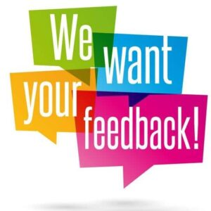 picture asking customers for their feedback